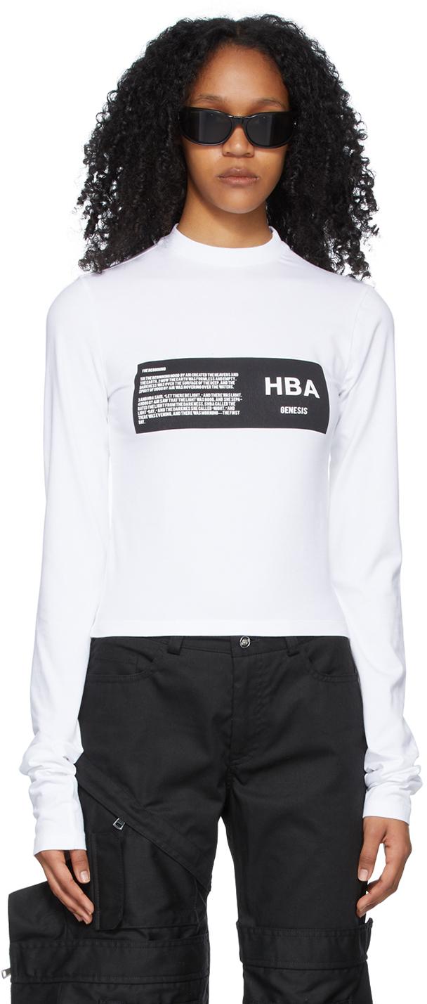 White Logo Long Sleeve T-Shirt
