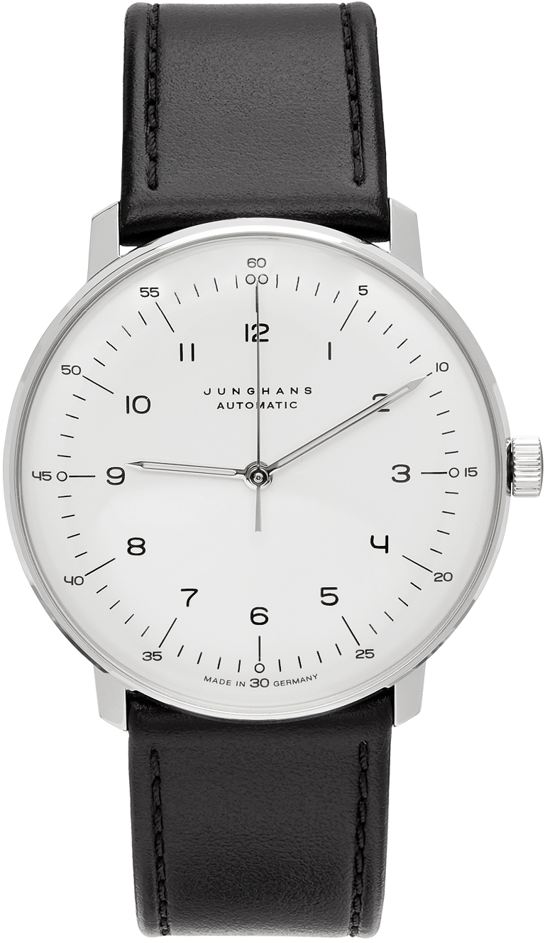 Junghans Silver & Black Automatic Max Bill Watch