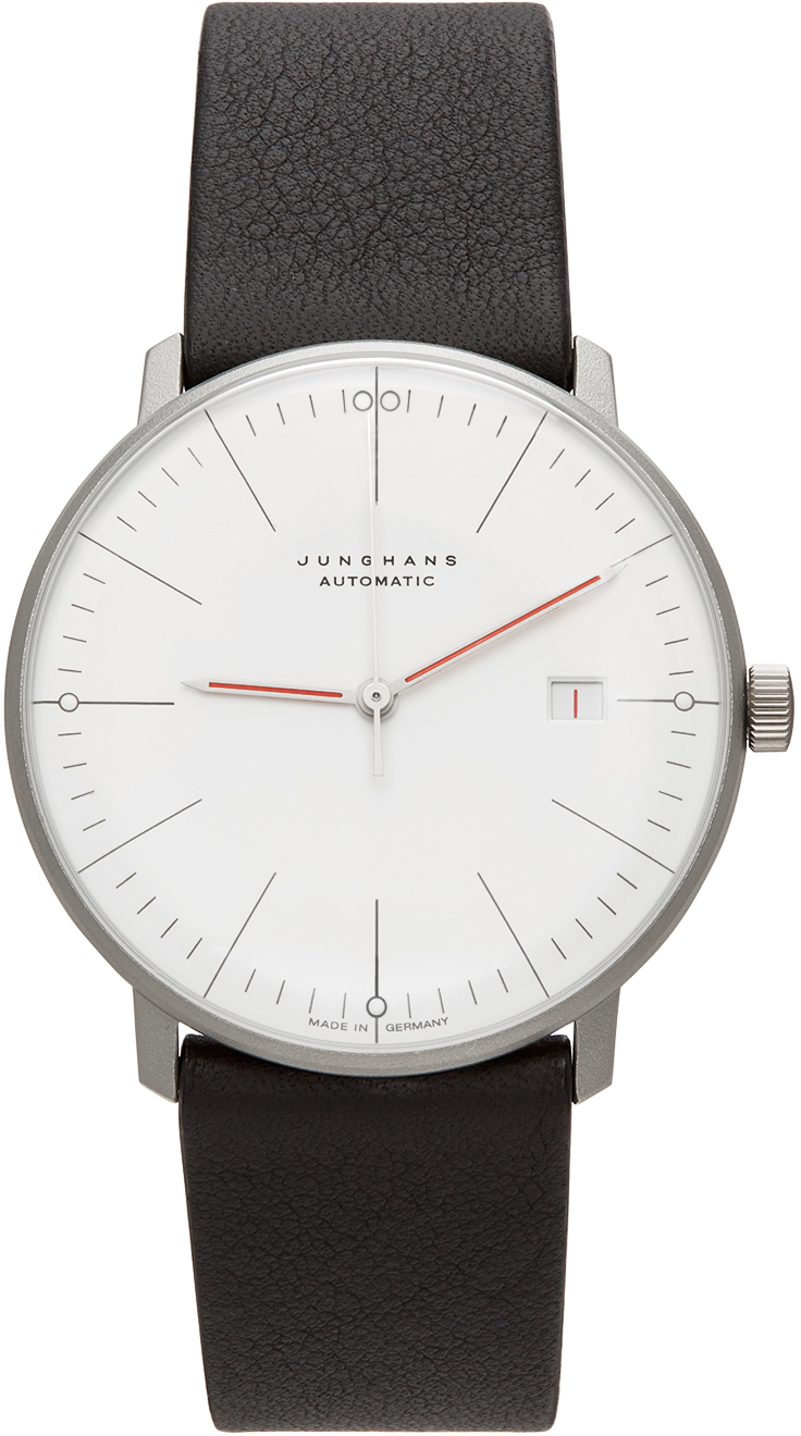 Junghans Silver & White Automatic Max Bill Bauhaus Watch