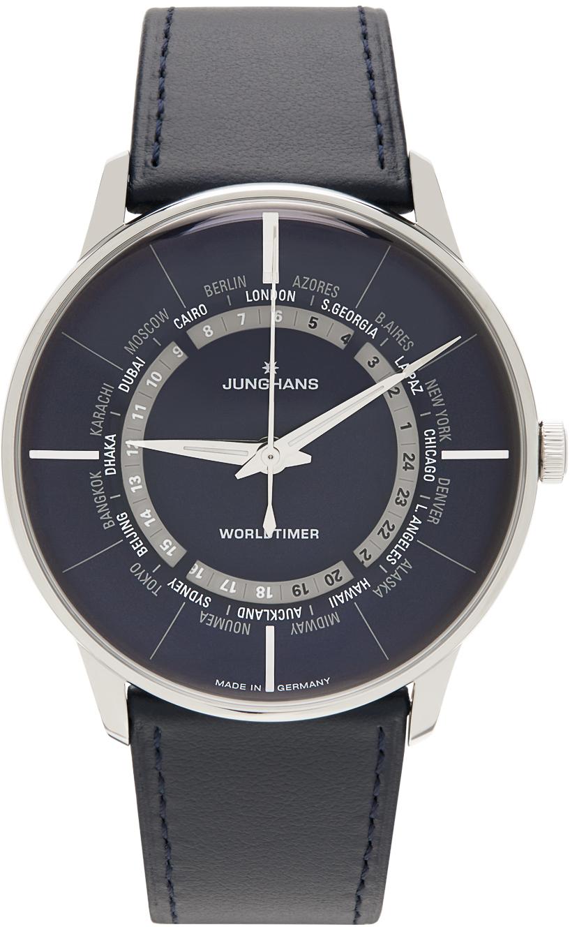 Blue & Silver Meister Worldtimer Watch