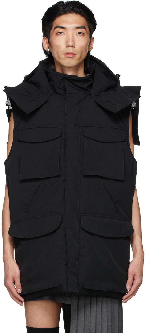 Black Backless Tie Vest