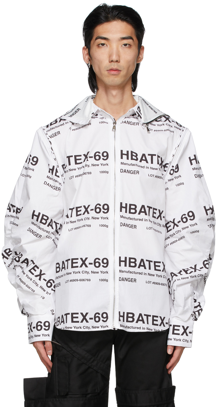 White All Over Print Hoodie Shirt