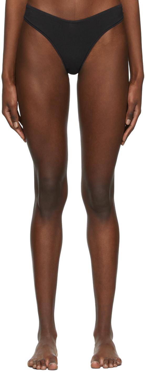 SKIMS Black Cotton 2.0 Dipped Thong