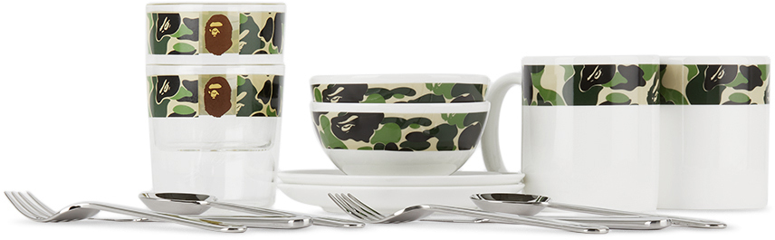Multicolor Camo ABC Tableware Set