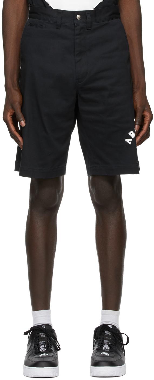 Black College Chino Shorts