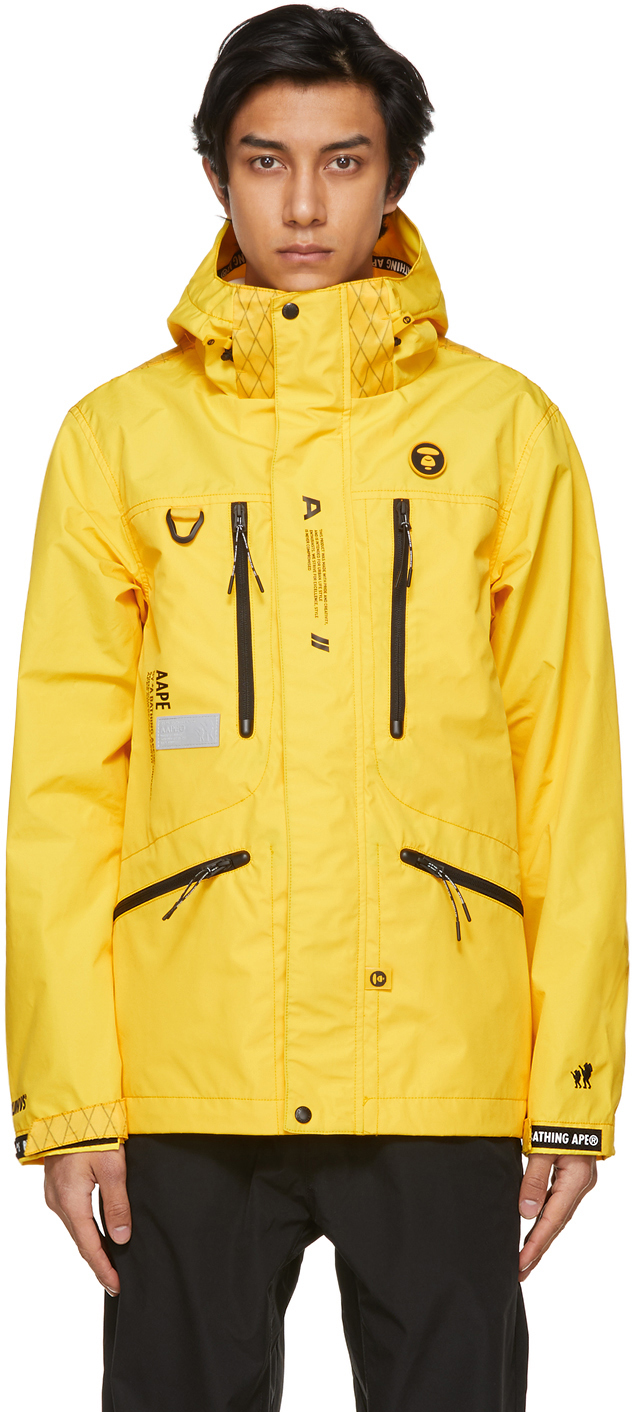 AAPE by A Bathing Ape Yellow Two Layer Light Jacket 211547M180001
