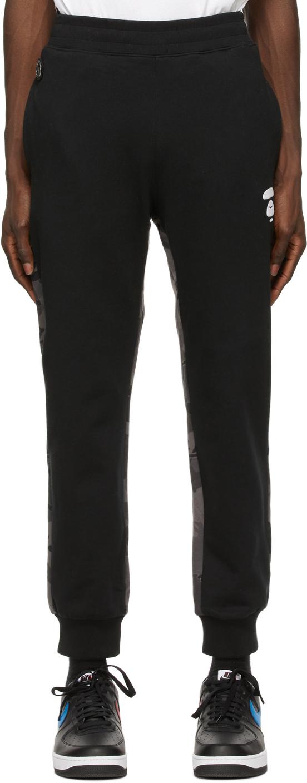 AAPE by A Bathing Ape Black Camo Lounge Pants 211547M190042