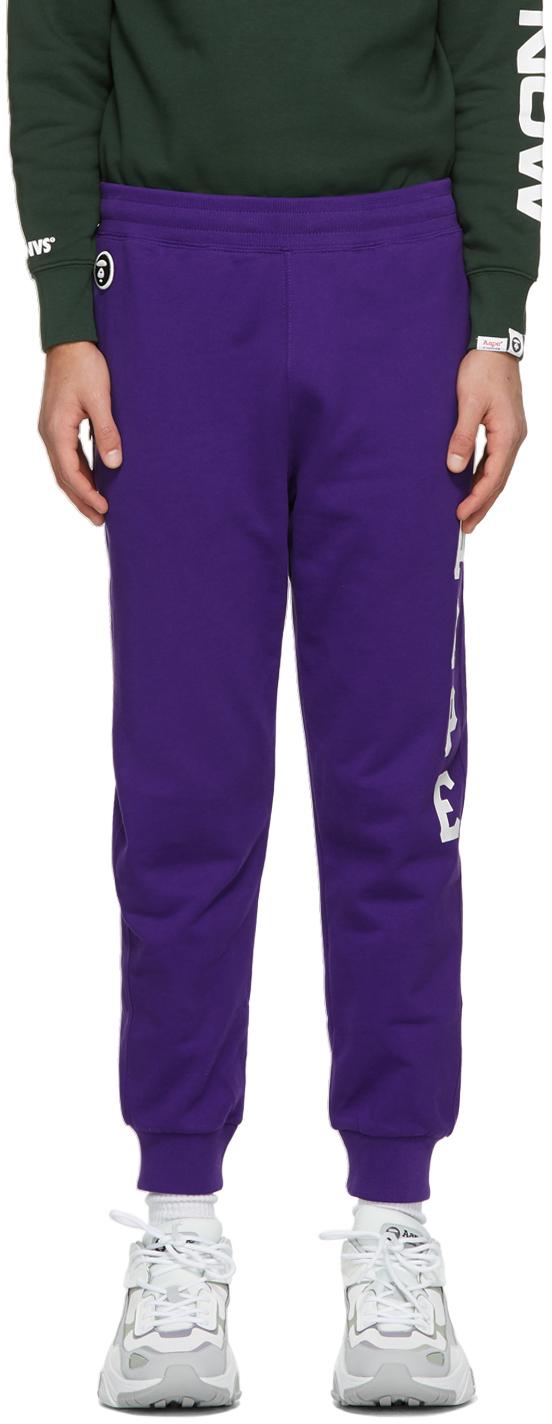 AAPE by A Bathing Ape Purple Logo Lounge Pants 211547M190048