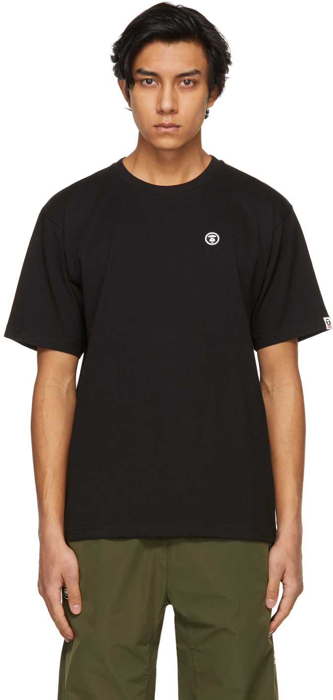 AAPE by A Bathing Ape Black One Point T Shirt 211547M213030