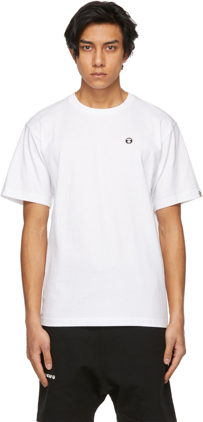AAPE by A Bathing Ape White One Point T Shirt 211547M213031