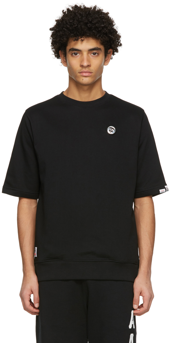 AAPE by A Bathing Ape Black French Terry T Shirt 211547M213047