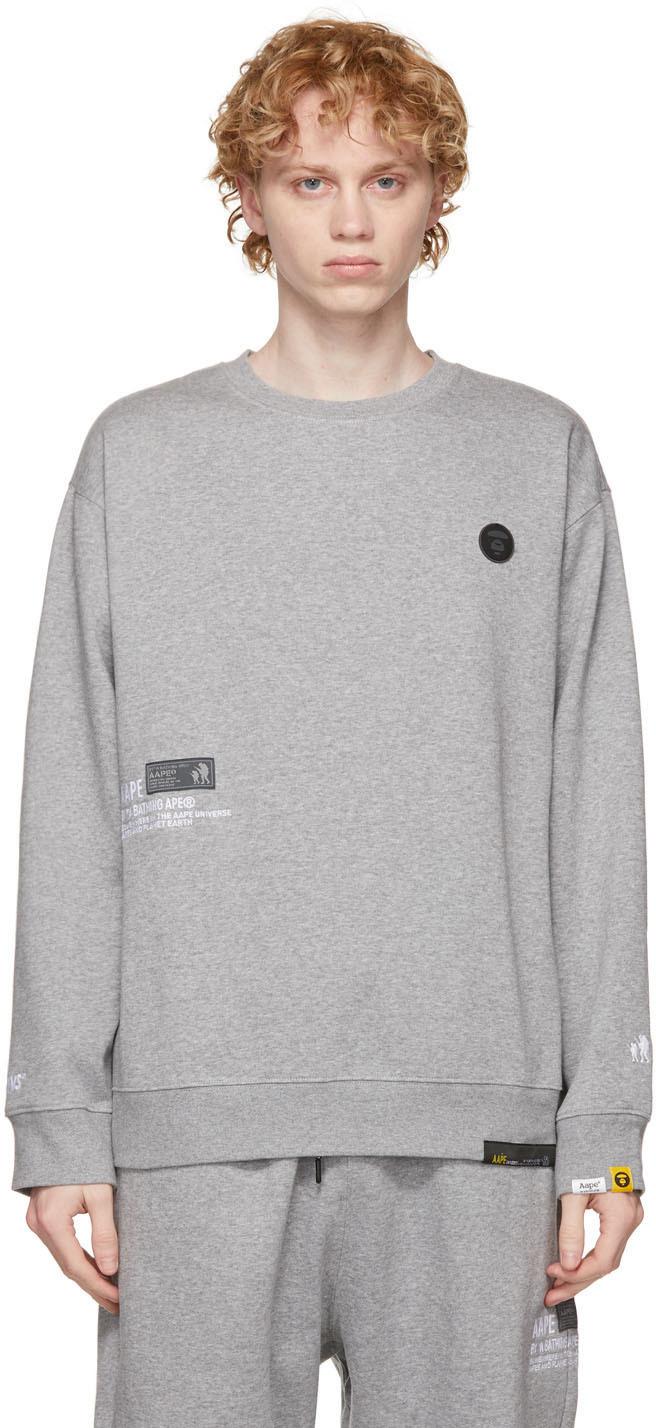 AAPE by A Bathing Ape Grey Sweatshirt Lounge Pants Set 211547M218002