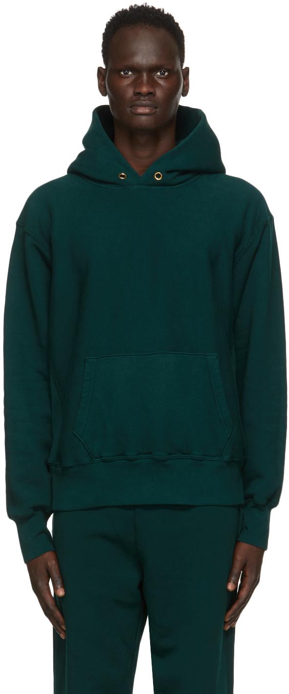 Green Heavyweight Cropped Hoodie