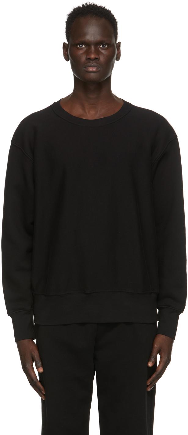 Black Heavyweight Crop Sweatshirt