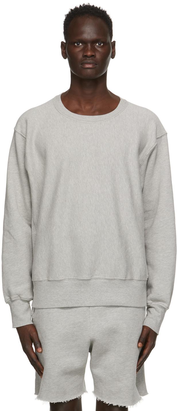 Grey Heavyweight Crop Sweatshirt