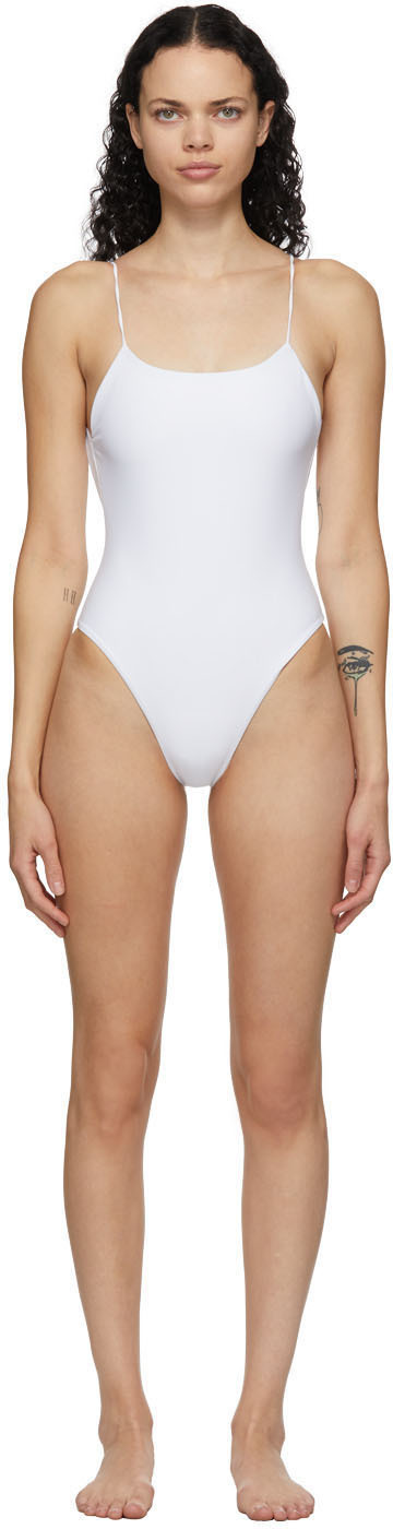 White Trophy One-Piece Swimsuit