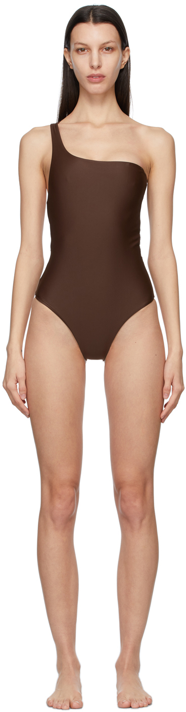 Brown Evolve One-Piece Swimsuit