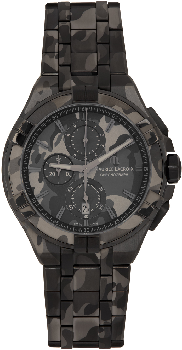 Black Camouflage AIKON Chronograph 44mm Watch
