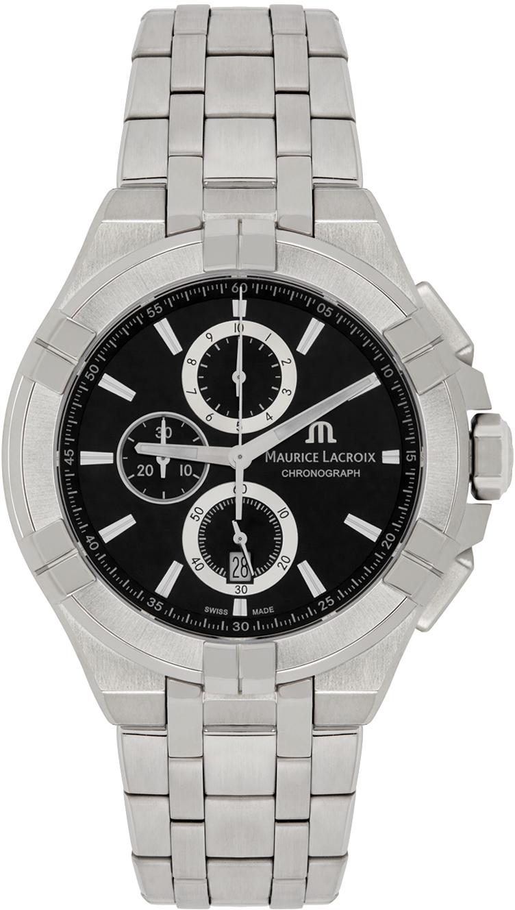 Silver AIKON Chronograph 44mm Watch