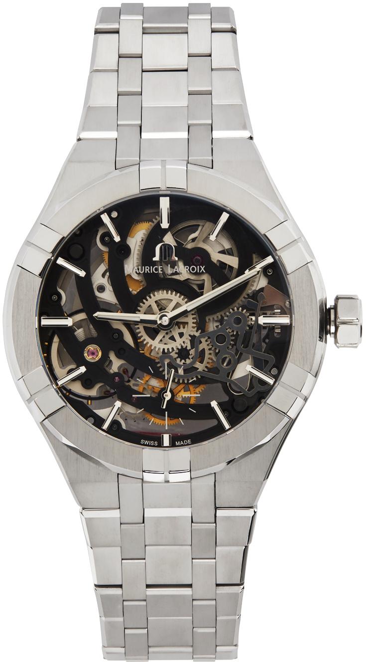 Silver Aikon Automatic Skeleton Watch