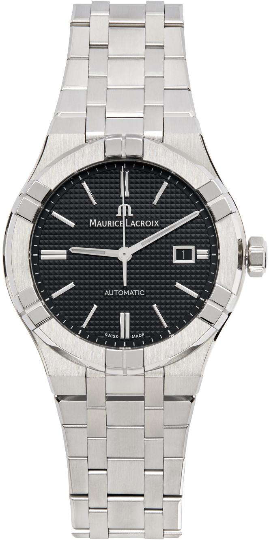 Silver & Blue Aikon Automatic Watch