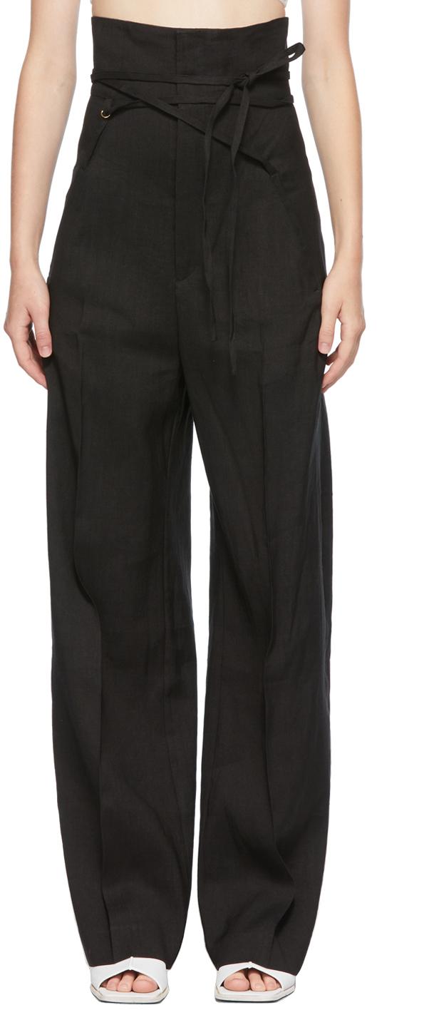 Black La Montagne 'Le Pantalon Novio' Trousers