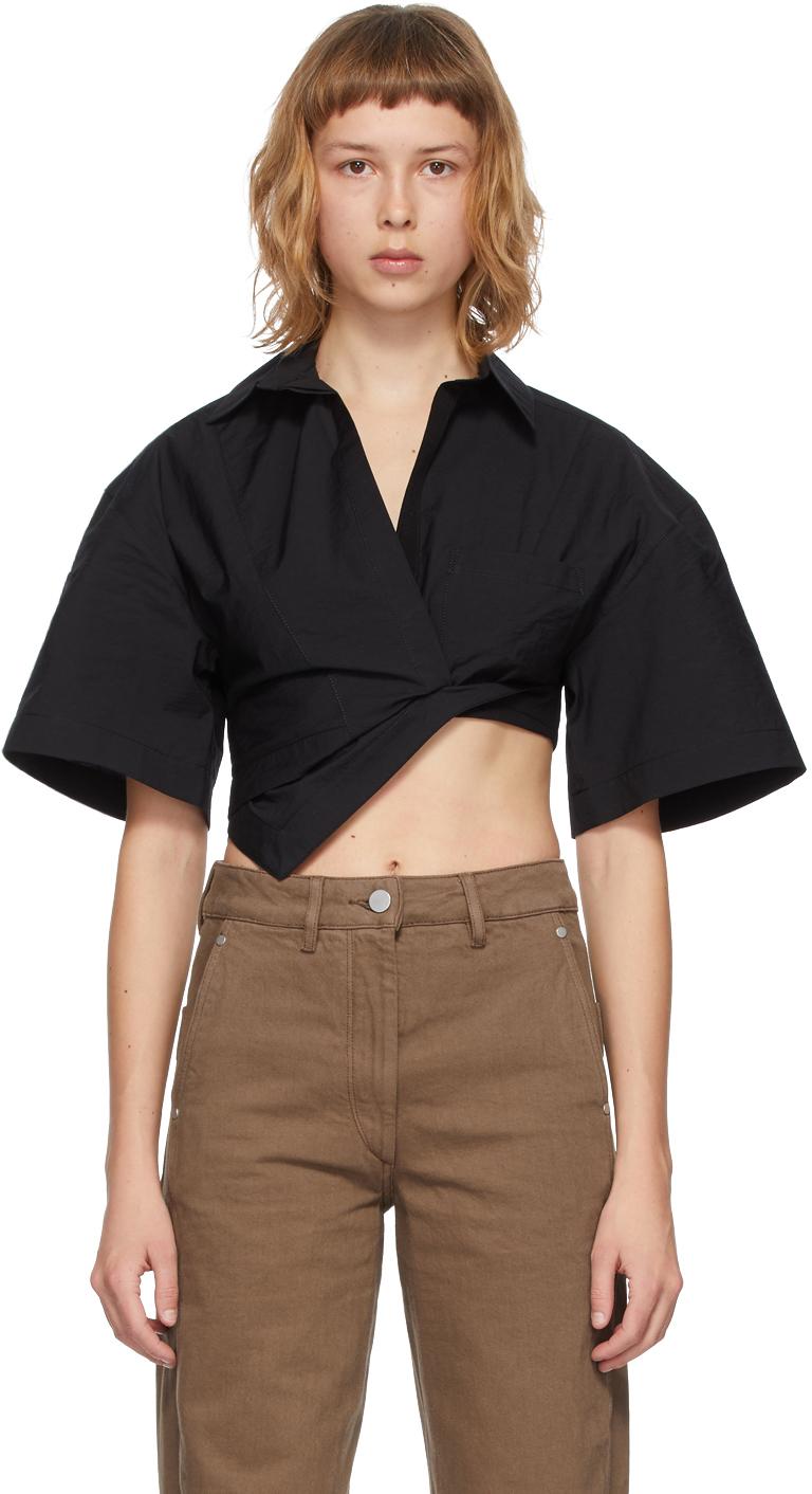 Black 'La Chemise Capri' Short Sleeve Shirt
