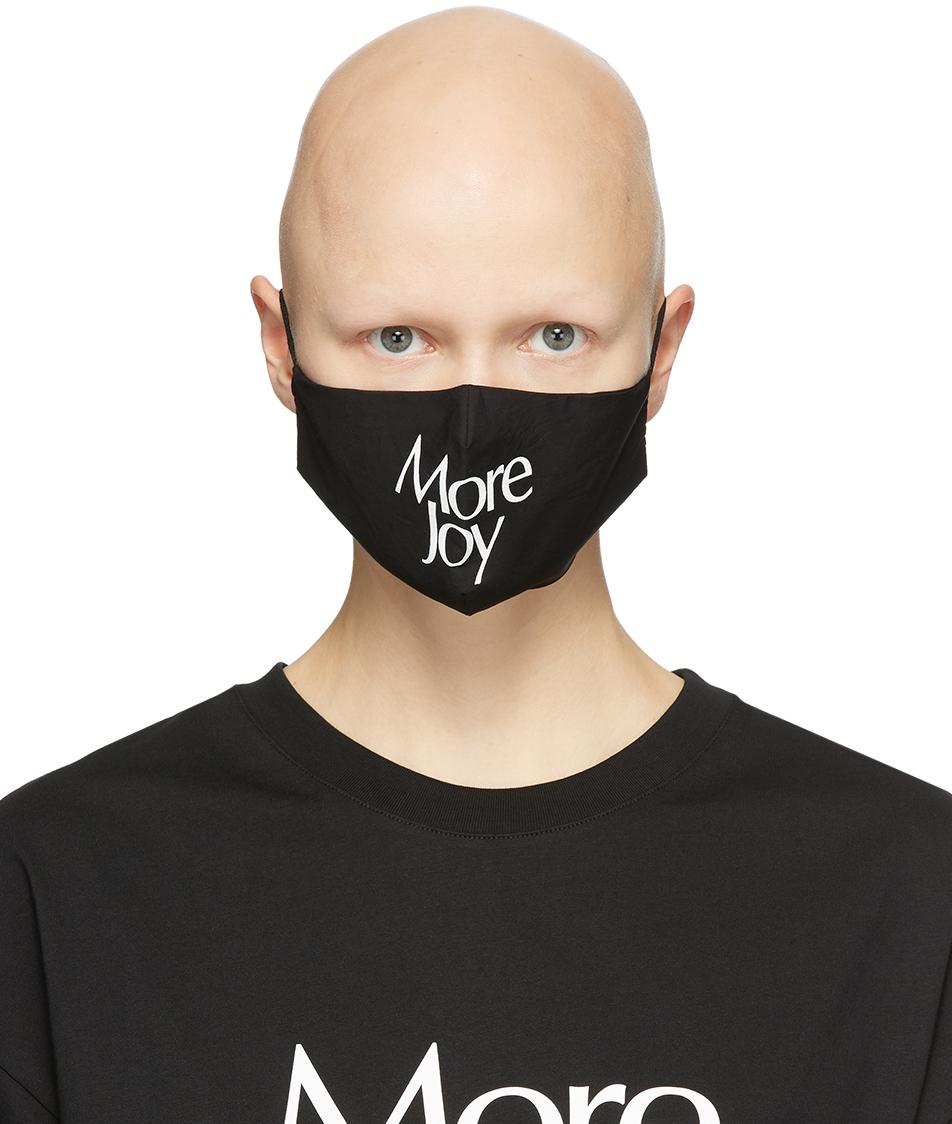 More Joy 黑色徽标口罩