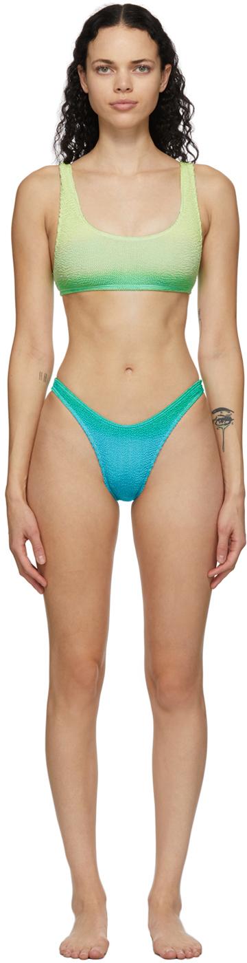 Green & Blue 'The Malibu' Bikini