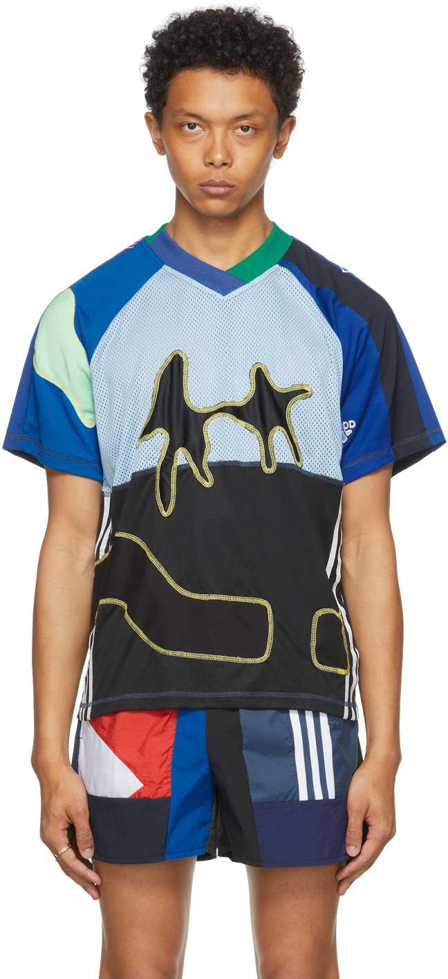 Blue The Magpie Project Edition Jersey Footy T-Shirt