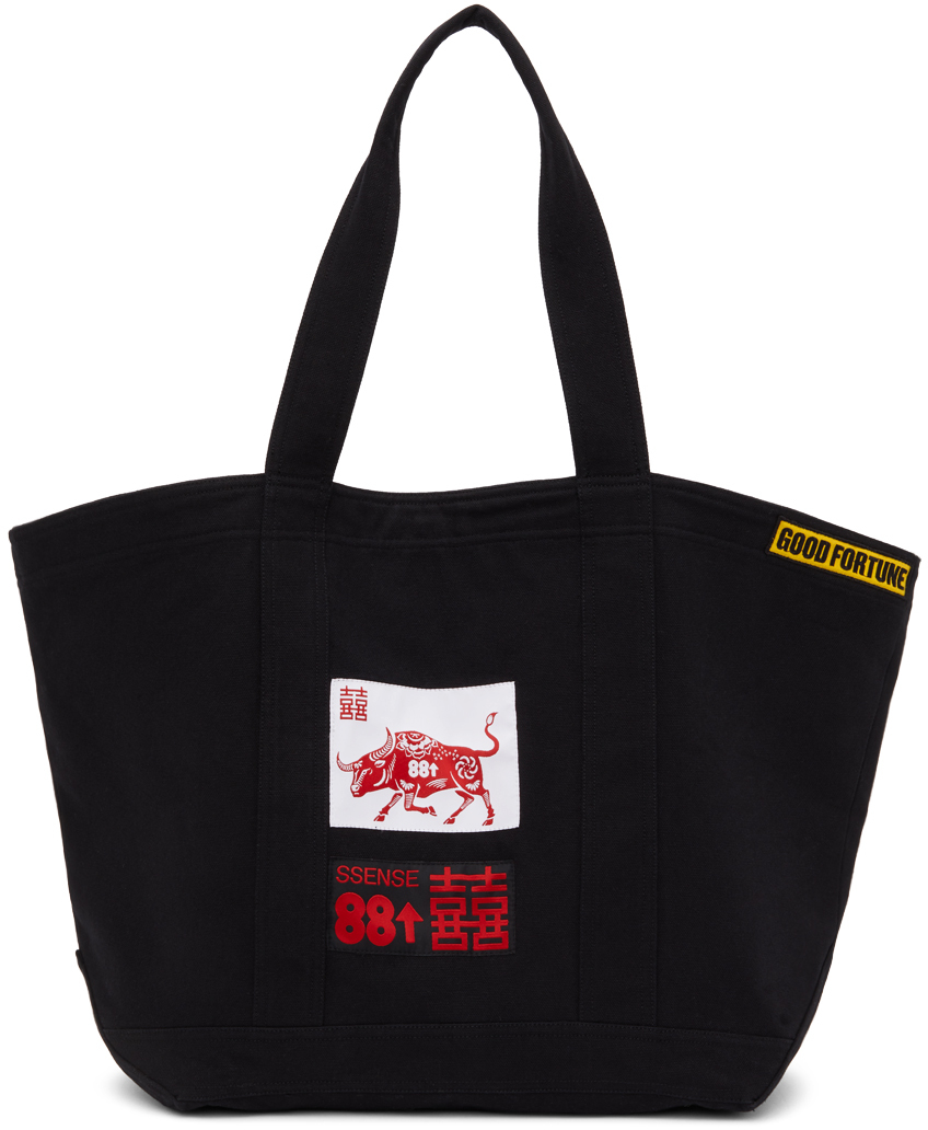 SSENSE Exclusive 88rising Black Patch Tote