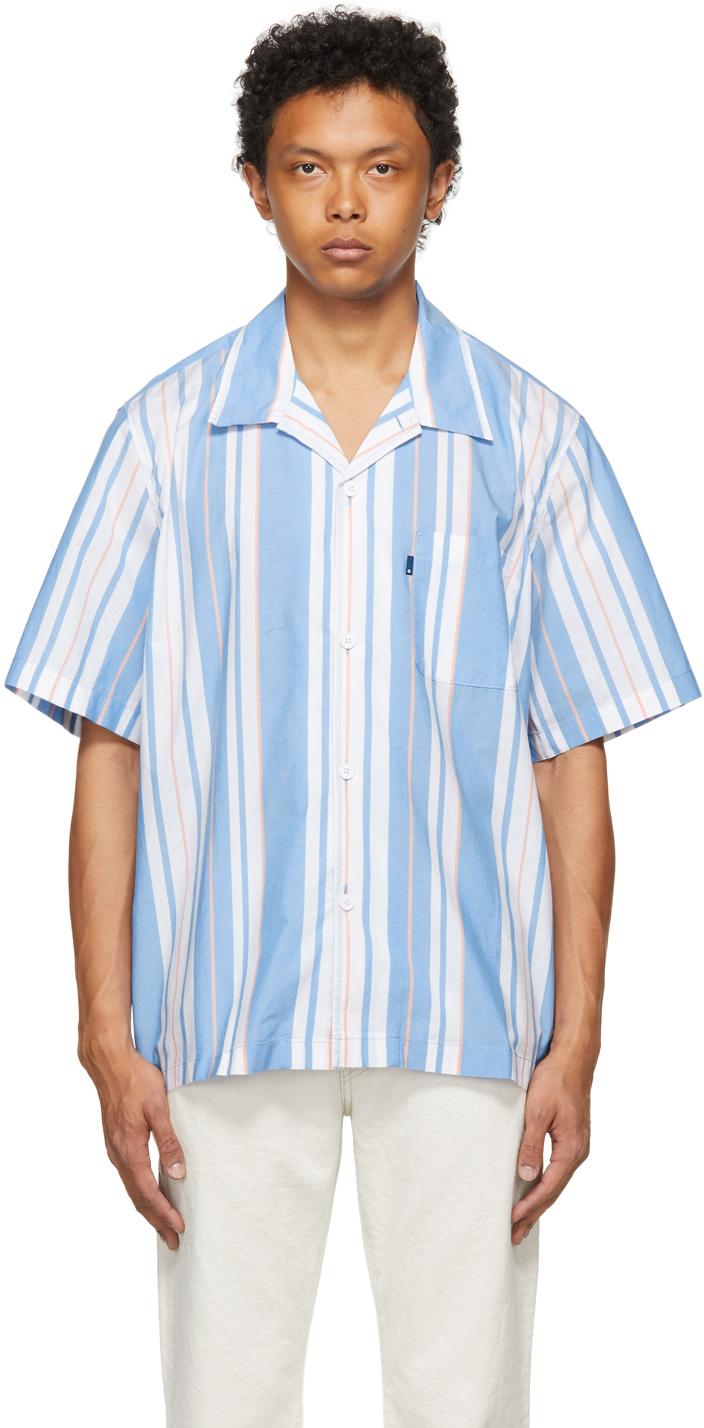 Levi's Made & Crafted 蓝色 & 白色 Camp 短袖衬衫