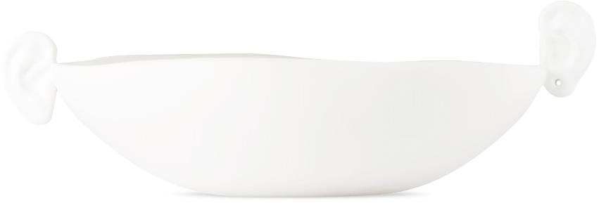 White Ceramic Noise Ear Bowl