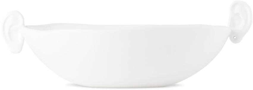 White Ceramic Mini Noise Ear Bowl