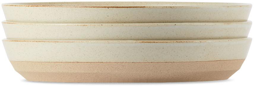 KINTO Beige Ceramic Lab CLK-151 Deep Plate Set, 8 in