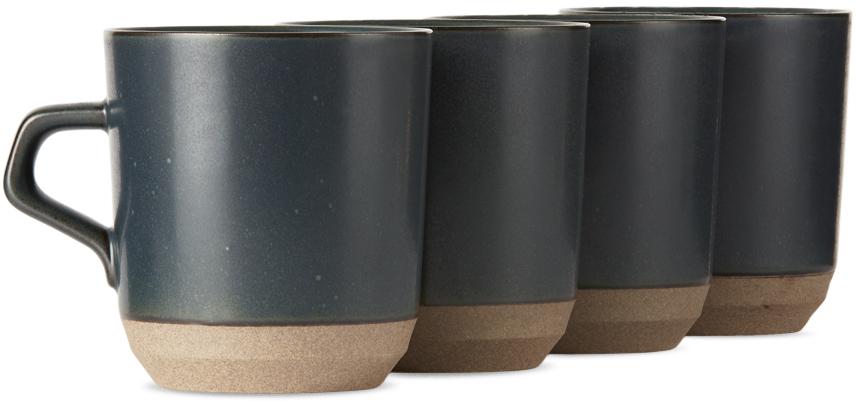 Black Ceramic Lab CLK-151 Large Mug Set