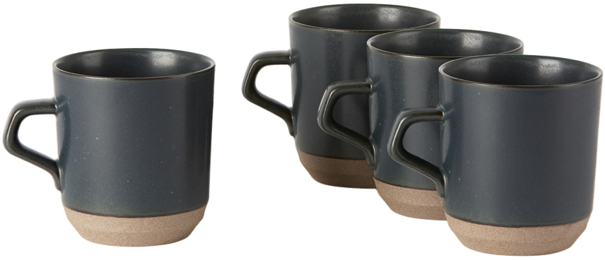 KINTO ブラック セラミック Lab CLK-151 ラージ マグカップ セット 415 ml