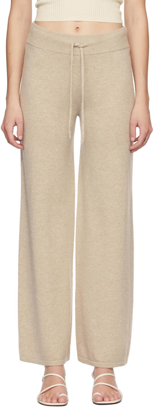 Beige Cashmere 'The Sofi' Lounge Pants