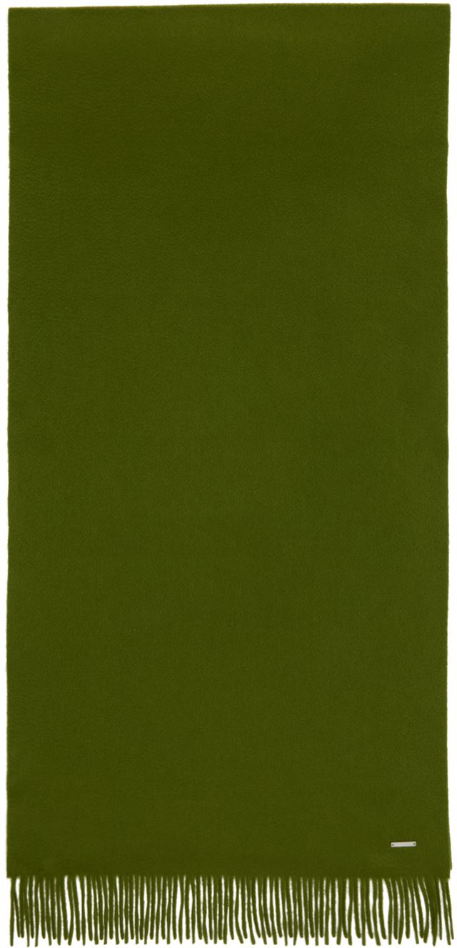 Loro Piana 绿色 Frisson Grande Unita 羊绒围巾