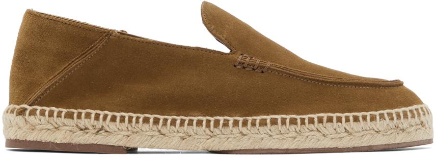 Tan Seaside Walk Espadrilles Loafers