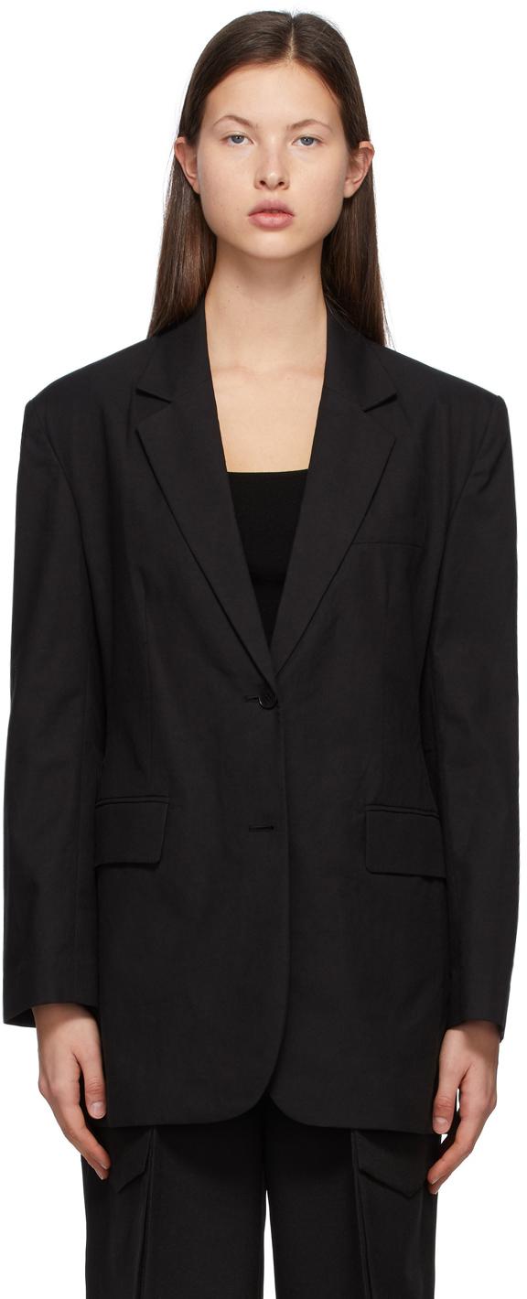 Black Cotton Zen Blazer