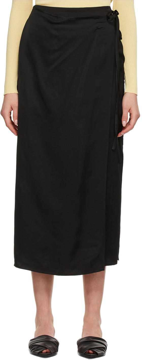 Black Need Wrap Skirt