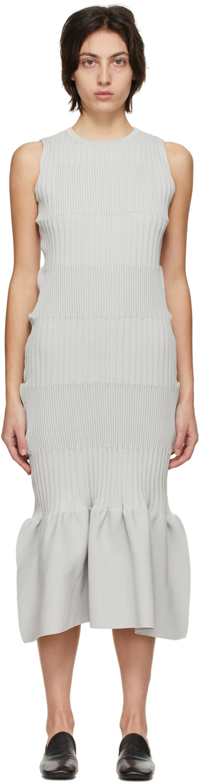 Grey Fluted Dress