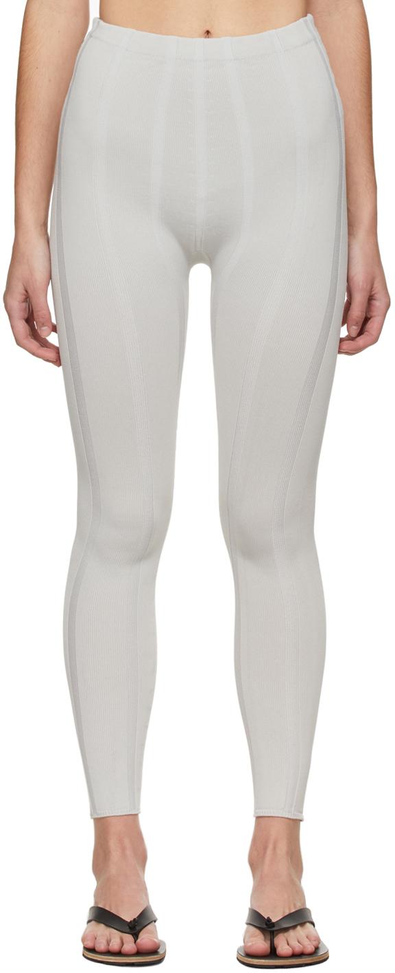 Grey Indent Stripe Leggings
