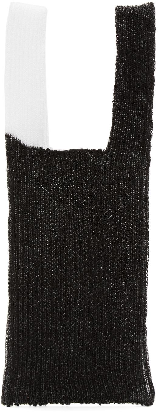 Black & White Small Double Bag