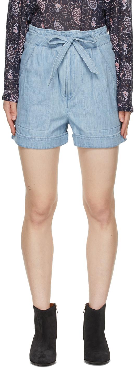 Isabel Marant Etoile Blue Denim Marius Shorts