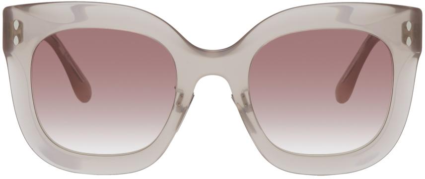 Isabel Marant Beige Rounded Sunglasses