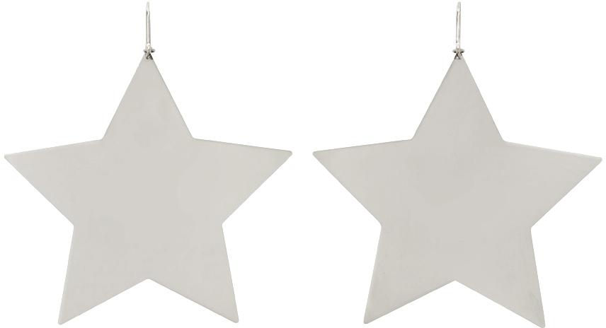 Silver In Love Star Earrings