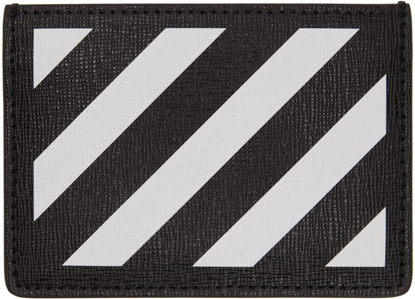 Black & White Diag Card Holder