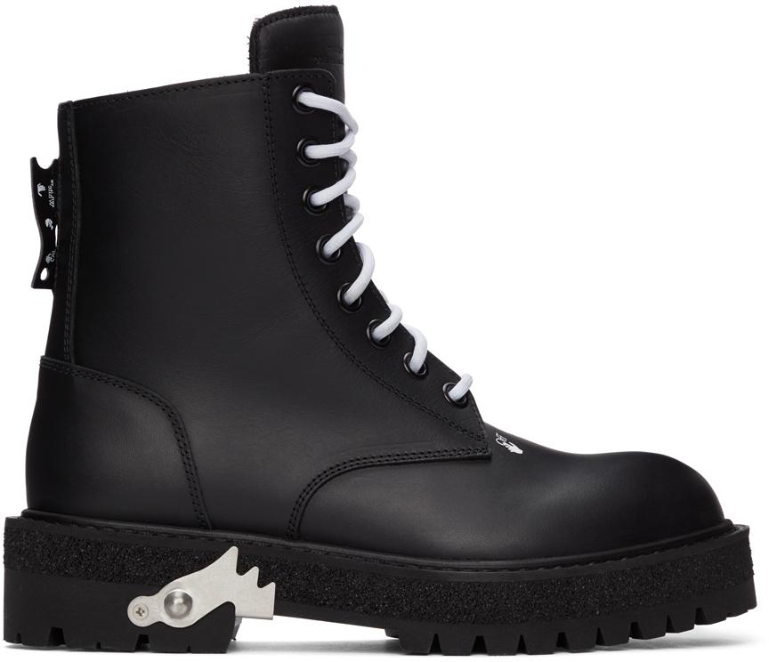 Black Hike Logo Boots